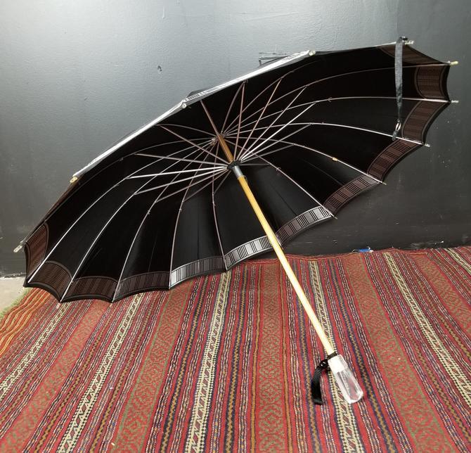 Retro Lucite Handled  Umbrella