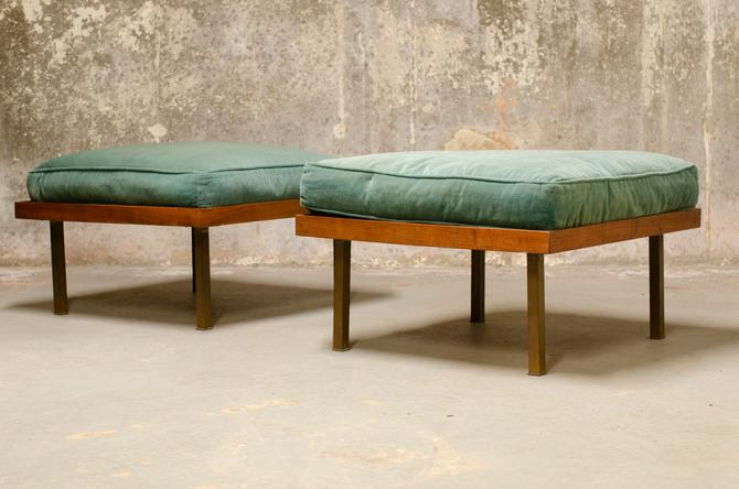 Pair of Harvey Probber style low occasional tables/stools by QueensMCM