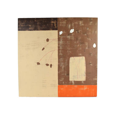 Mid Century Modern Abstract Minimalist Floral Still Life Painting Norah Weiner by PrairielandArt
