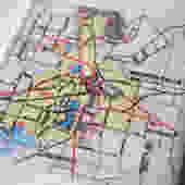 1983 Wichita Falls Texas Handmade Repurposed Vintage Map Coaster - Ceramic Tile Coaster - Repurposed 1980s City Map Atlas OOAK Coasters by allmappedout