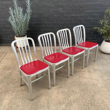 Set of 4 Vintage Aluminum Dining Chairs by VintageSupplyLA