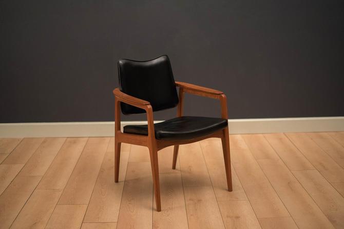 Danish Sigvard Bernadotte Teak and Leather Armchair by MidcenturyMaddist