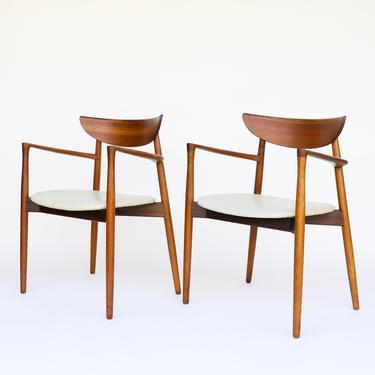 Set of Six Harry Ostergaard for Randers Mobelfabrik Teak Dining Chairs