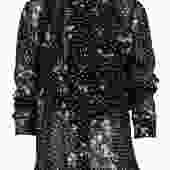 Ganni - Black Floral Print Polka Dot Ruffled Long Sleeve Button-Up Blouse Sz S