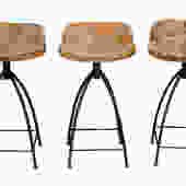 Acacia Wood Bar Stools