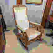 Antique Victorian Slipper Rocking Chair