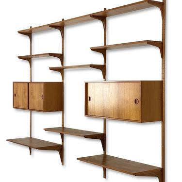HG Furniture of Denmark Teak Adjustable Wall Unit, Circa 1960s - *Please ask for a shipping quote before you buy. by CoolCatVintagePA