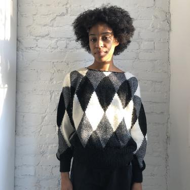 Vintage Patchwork Sweater by Liz Claiborne