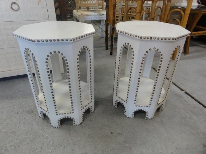 Nailhead Moroccan Side Tables