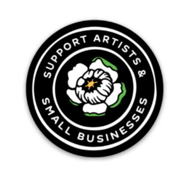 Support Artists & Small Businesses Sticker