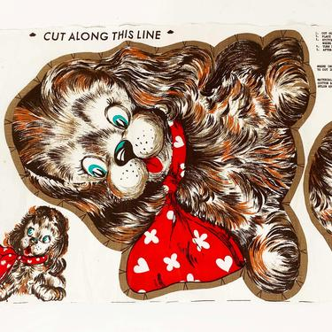 True Vintage Dog Pillow Sewing Kit Supplies Ephemera Sew Crafting Printed Fabric Printed Baby Shower Nursery Quarantine Craft Cocker Spaniel by CheckEngineVintage