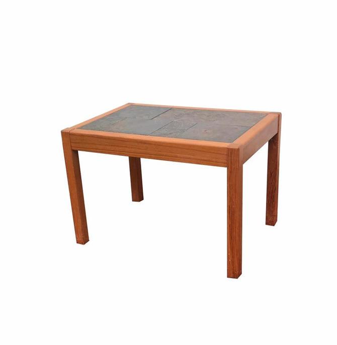 Danish Teak Tiled Side table by Gangsø Mobler by UrbanInteriorsBalt