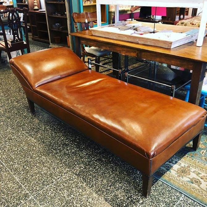 Fabulous brown leather chaise