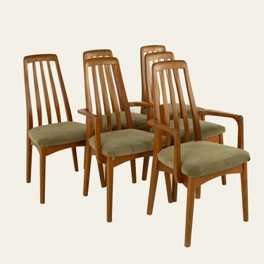 Koefoeds Hornslet Eva Style Mid Century Teak Dining Chairs - Set of 6 - mcm by ModernHill