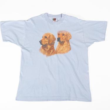 90s Golden Retriever T Shirt - Extra Large   Vintage Oversized Dog Graphic Animal Tee by FlyingAppleVintage