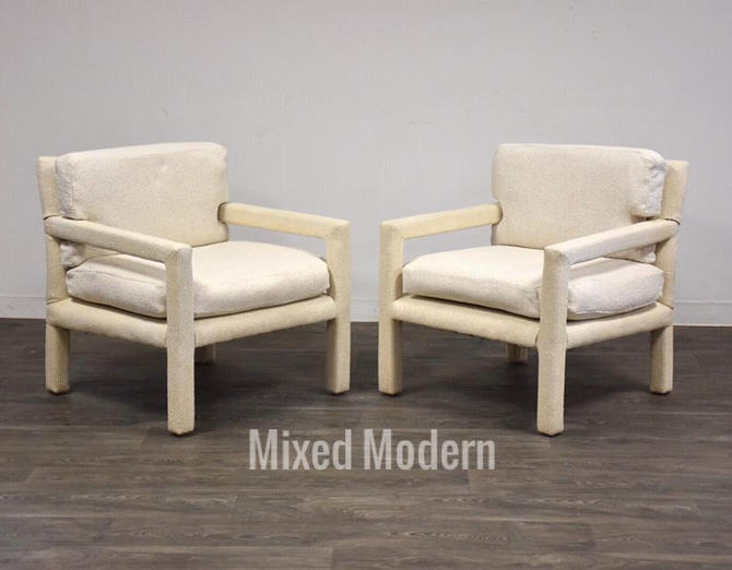 Milo Baughman for Thayer Coffin Parsons Chairs- a pair by mixedmodern1