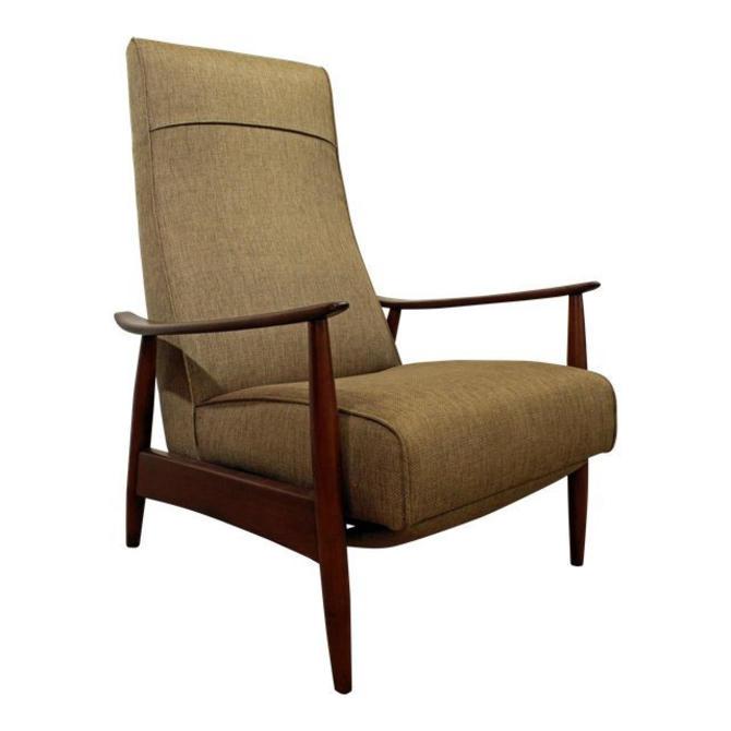 Mid-Century Danish Modern Milo Baughman Thayer Coggin Recliner Lounge Chair by AnnexMarketplace
