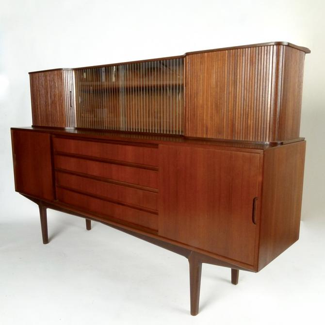 Two Piece Danish Teak Sideboard / Cocktail Cabinet