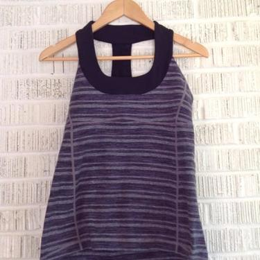 Lululemon Size L Black & Purple Top