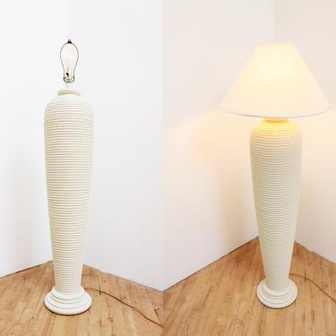 Plaster Look Floor Lamp Vintage 80s Beehive Sculptural Urn Lamp by 330ModernAntique