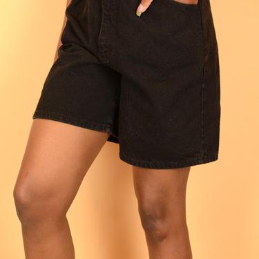 Vintage Lee Denim Black High Rise Shorts by MAWSUPPLY