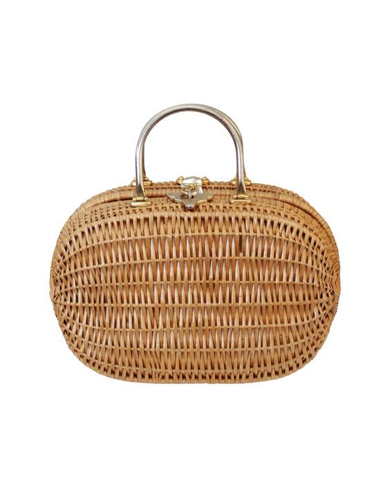 1950 Large Natural Wicker Purse - 1950s Wicker Purse - Vintage Large Wicker Purse - 1950s Handbag - Vintage Handbag - Wicker Handbag by VeraciousVintageCo