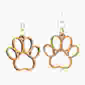 Puppy Paw Blossom - Wood Earrings by GreenTreeJewelry