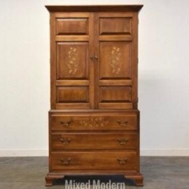 Hitchcock Solid Maple Stenciled Armoire Dresser by mixedmodern1