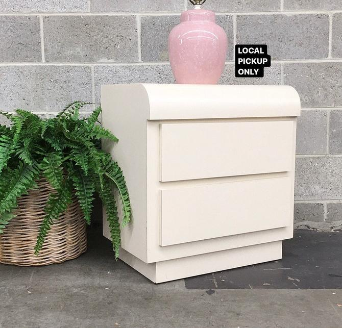 LOCAL PICKUP ONLY ———— Vintage Nightstand by RetrospectVintage215