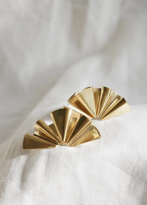 Tiro Tiro Faldi Earrings - Brass