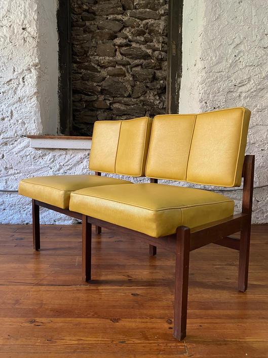 Mid century loveseat mid century settee mid century modern sofa by VintaDelphia