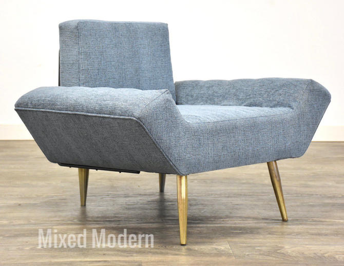 Adrian Pearsall Blue Lounge Chair by mixedmodern1