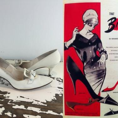 Ice Cold Continental Looks - Vintage 1950s 1960s Ice Blue Nubuck Leather Pumps Shoes Heels - 8 by RoadsLessTravelled2