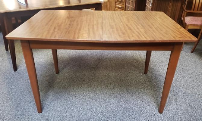 Item #DM271 Mid Century Teak Dining Table w/ Butterfly Leaf c.1960s