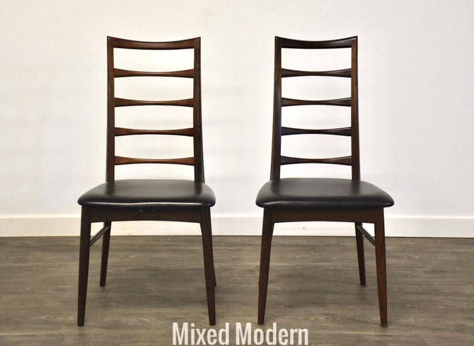 Koefoeds Hornslet Rosewood Dining Side Chairs - A Pair by mixedmodern1