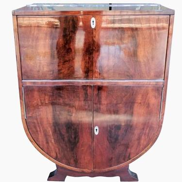 Art Deco Rosewood and Sycamore Petite Bar