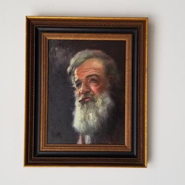 1960s Antonio Godoy Portrait Oil Painting, Framed by MIAMIVINTAGEDECOR