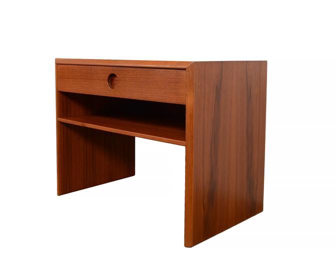Teak Nightstand Kai Kristiansen , Danish Modern Side Table by HearthsideHome