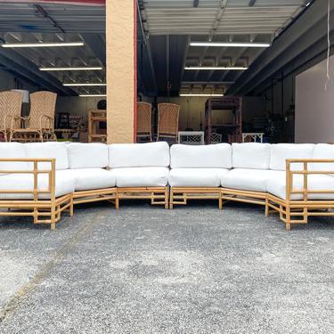 Amazing Ficks Reed Rattan Semicircle Sofa