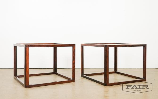 Rosewood Kai Kristiansen Glass Cube Tables