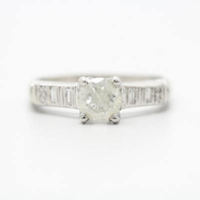 Platinum Diamond Engagement Ring by LazyCamel