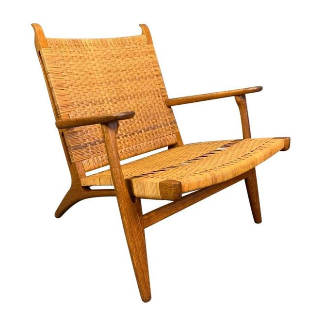 "Vintage Danish Mid Century Modern ""Ch27"" Chair in Oak and Cane by Hans Wegner for Carl Hansen by AymerickModern"