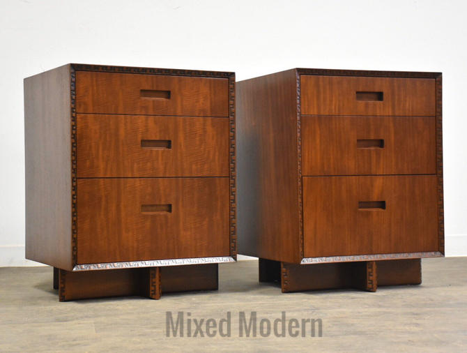 Frank Lloyd Wright Taliesin Nightstands by mixedmodern1