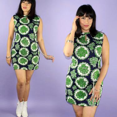GO GO... vintage 1960's geometric pattern psych gogo mod mini dress by femeninaofcalifornia