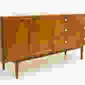 Kipp Stewart 10 Drawer Walnut Lowboy Dresser