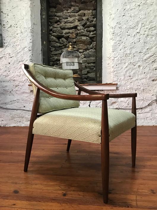 mid century arm chair mid century accent chair danish modern side chair by VintaDelphia