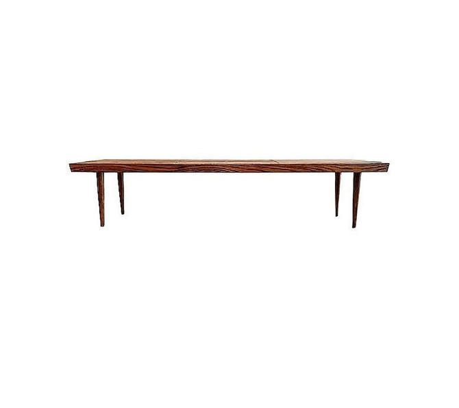 Vintage MCM Slat Coffee Table In Wood by minthome