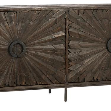 Reclaimed Pine Sideboard Cabinet with Iron Base by Terra Nova Furniture Los Angeles by TerraNovaLA