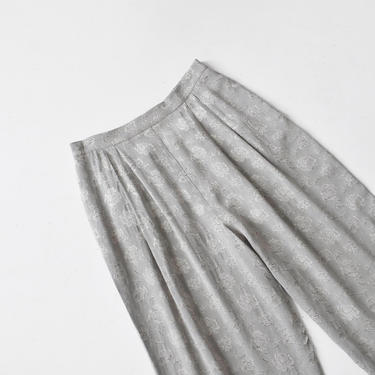 vintage grey floral lounge pants, size L / XL by ImprovGoods