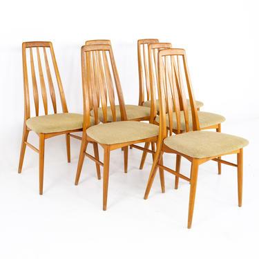 Niels Koefoeds Hornslet Mid Century Eva Teak Dining Chairs - Set of 6 - mcm by ModernHill